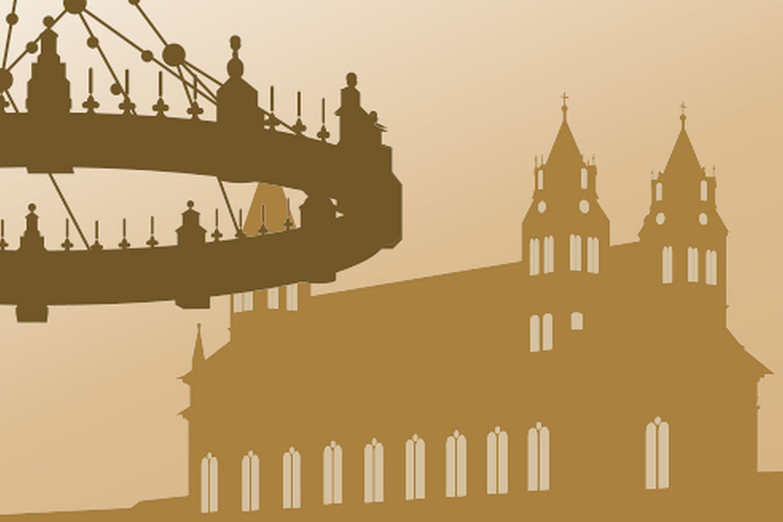 Symbol für Standardführungen im Kloster Grosscomburg; Illustration: Staatliche Schlösser und Gärten Baden-Württemberg, JUNG:Kommunikation GmbH