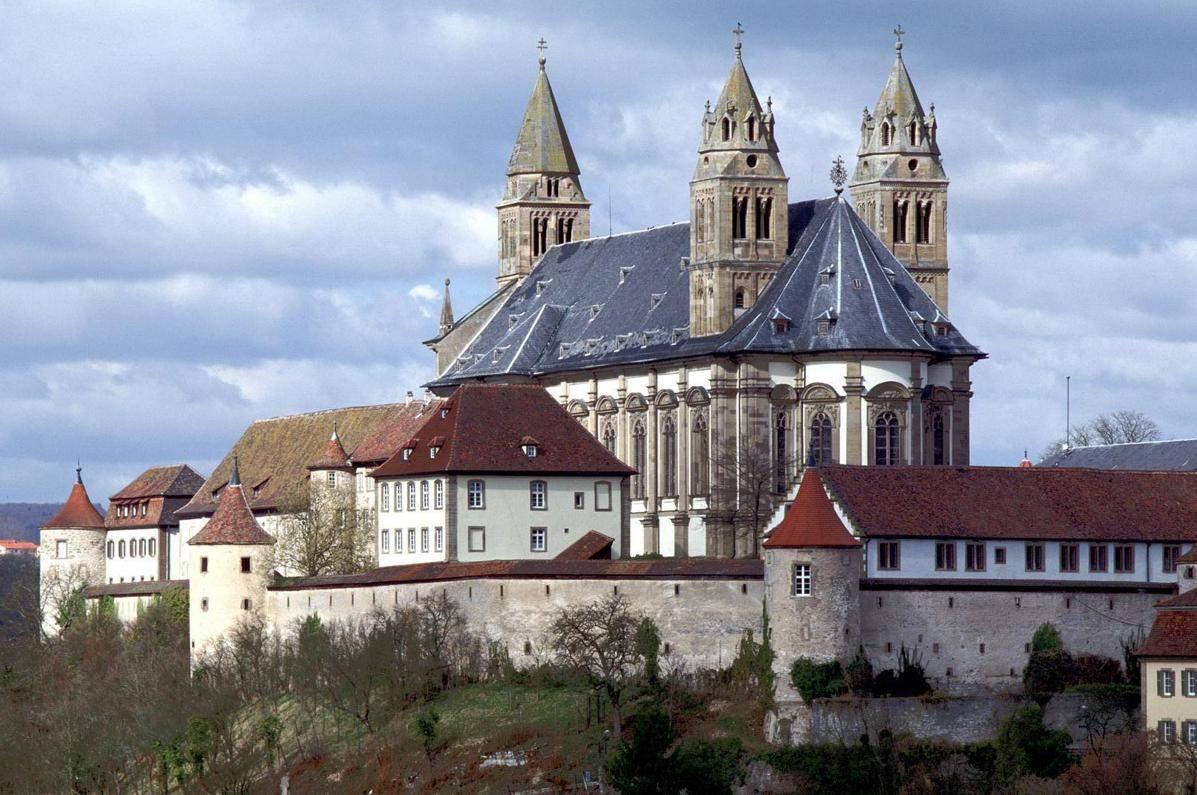 Monastère de Großcomburg; Vue extérieure; l'image: Staatliche Schlösser und Gärten Baden-Württemberg, Arnim Weischer