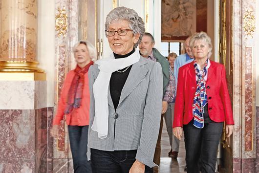 Besucher im Kloster