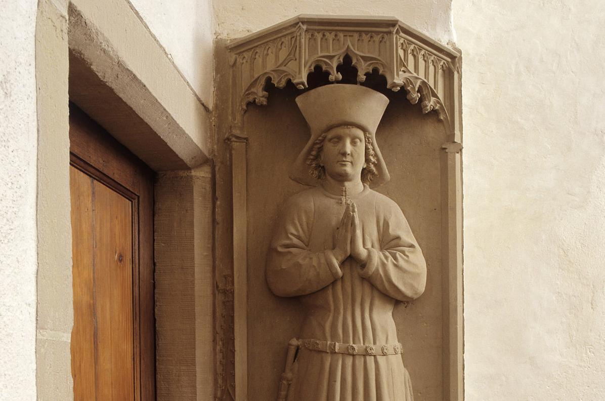 Grabmal des Stifters Schenk Friedrich V. von Limpurg, 1474, in der Josefskapelle von Kloster Kloster Großcomburg; Foto: Staatliche Schlösser und Gärten Baden-Württemberg, Arnim Weischer