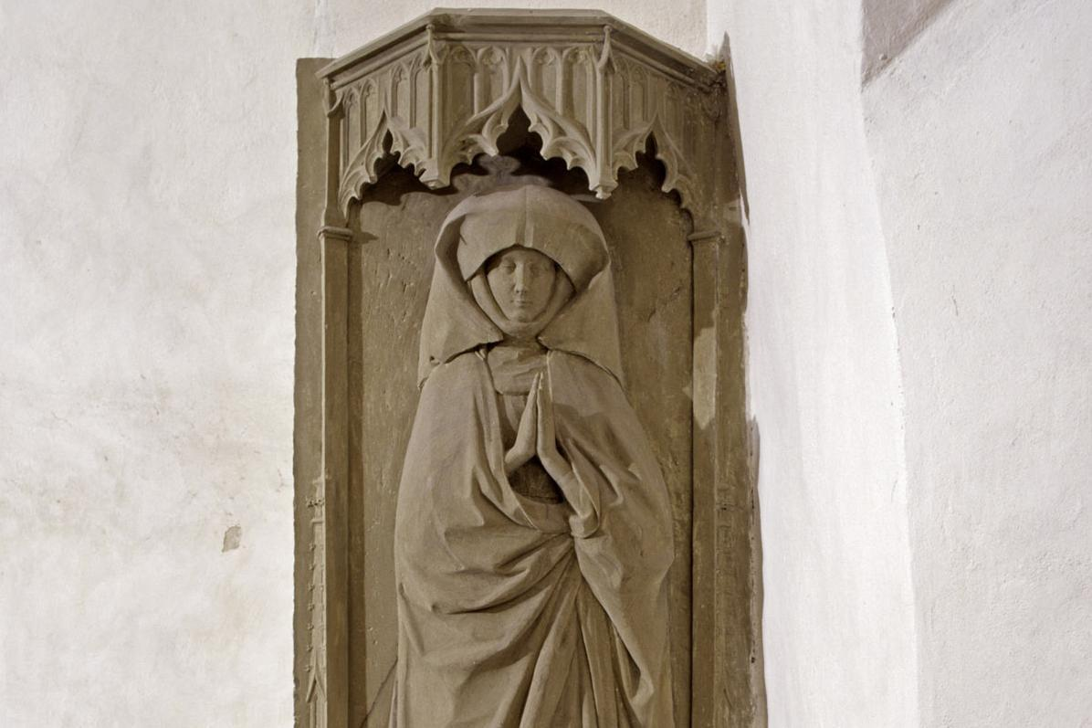 Grabmal der Stifterin Gräfin Susanna von Thierstein, 1468, in der Josefskapelle von Kloster Kloster Großcomburg; Foto: Staatliche Schlösser und Gärten Baden-Württemberg, Arnim Weischer
