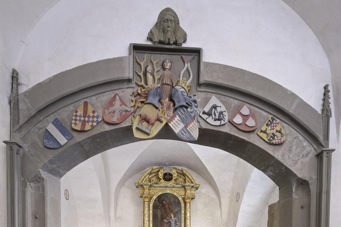 Detail der Josefskapelle von Kloster Großcomburg