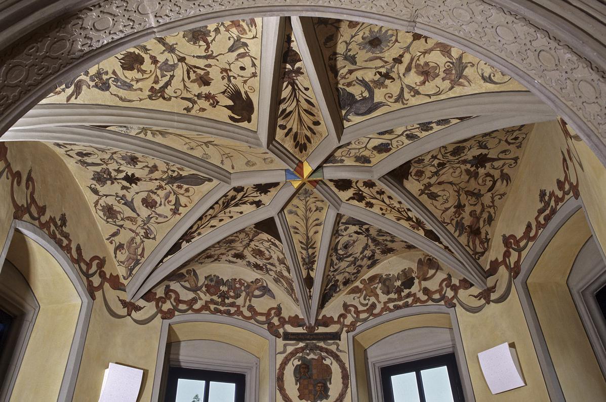 Innenansicht des Turmzimmers, Alte Dekanei, von Kloster Großcomburg; Foto: Staatliche Schlösser und Gärten Baden-Württemberg, Arnim Weischer