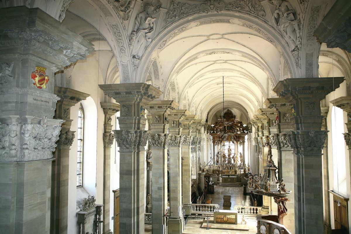 Blick in die Stiftskirche St. Nikolaus, Großcomburg; Foto: Eva Maria Kraiss