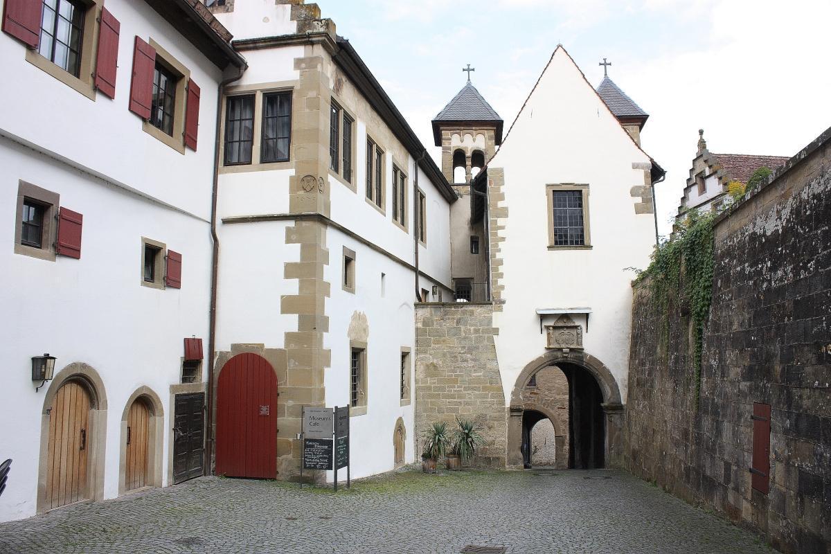 Blick in die Anlage des Klosters Großcomburg; Foto: Eva Maria Kraiss
