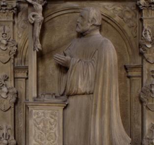 Detail des Grabmals des Erasmus Neustetter in Kloster Großcomburg