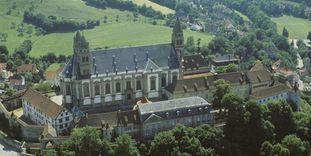 Luftaufnahme von Kloster Großcomburg