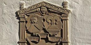 Wappen von Erasmus Neustetter am Wamboldbau des Klosters Großcomburg