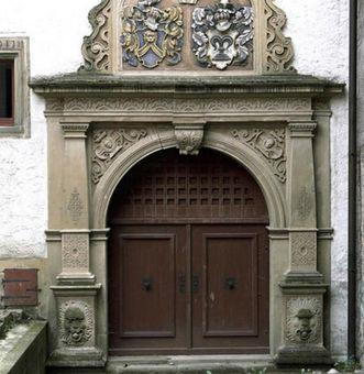 Portal des Gebsattelbaus des Klosters Großcomburg; Foto: Landesmedienzentrum Baden-Württemberg, Sven Grenzemann