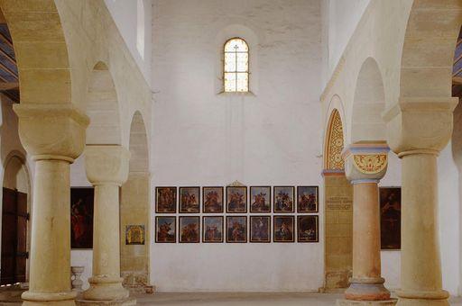 Innenansicht der Klosterkirche St. Ägidius des Klosters Kleincomburg