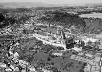 Kloster Großcomburg mit Steinbach, 1960