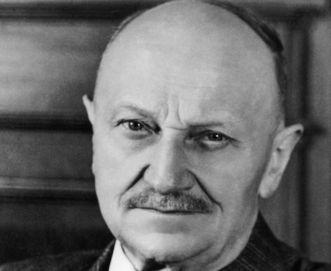 Theodor Bäuerle, um 1955, Kultusminister in Württemberg-Baden 1947 bis 1951