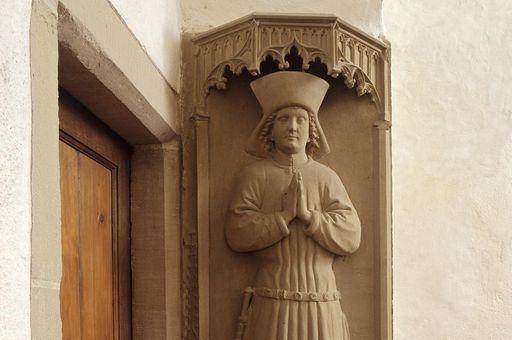 Grabmal des Stifters Schenk Friedrich V. von Limpurg, 1474, in der Josefskapelle von Kloster Kloster Großcomburg