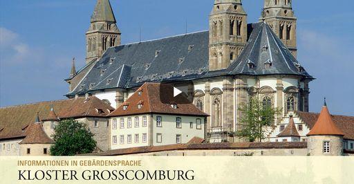 """Startbildschirm des Filmes """"Kloster Großcomburg: Informationen in Gebärdensprache"""""""