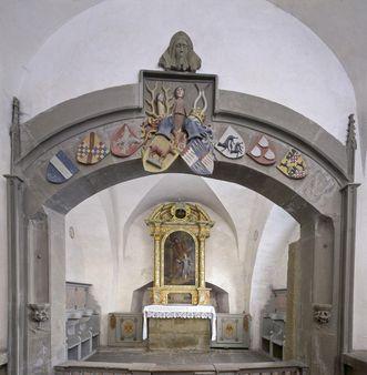 Innenansicht der Josefskapelle von Kloster Großcomburg; Foto: Staatliche Schlösser und Gärten Baden-Württemberg, Arnim Weischer